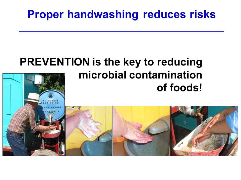 Proper handwashing reduces risks