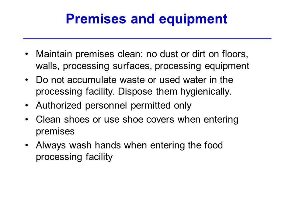 Premises and equipment