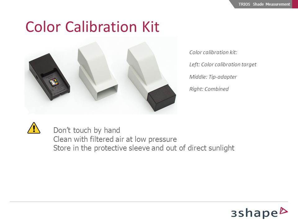 Color Calibration Kit Don't touch by hand