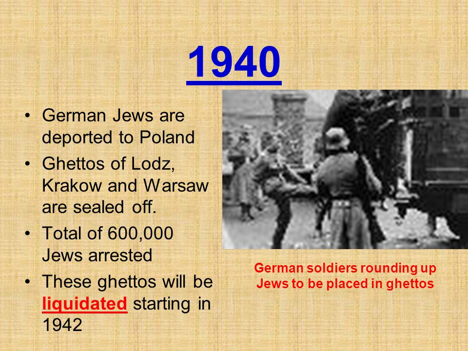 German soldiers rounding up Jews to be placed in ghettos