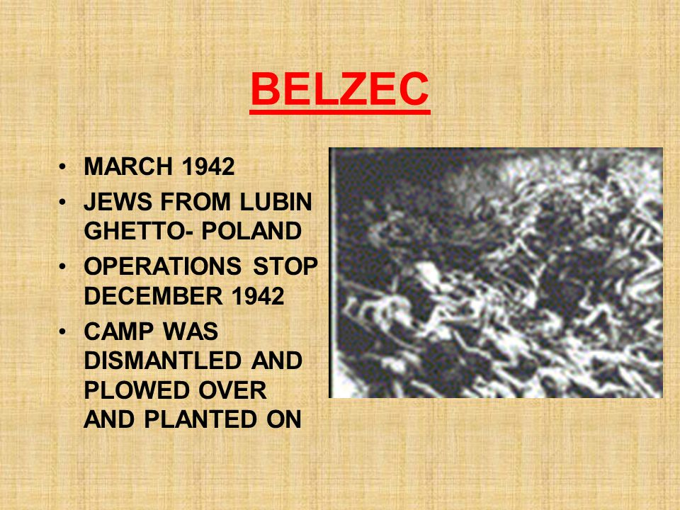BELZEC MARCH 1942 JEWS FROM LUBIN GHETTO- POLAND