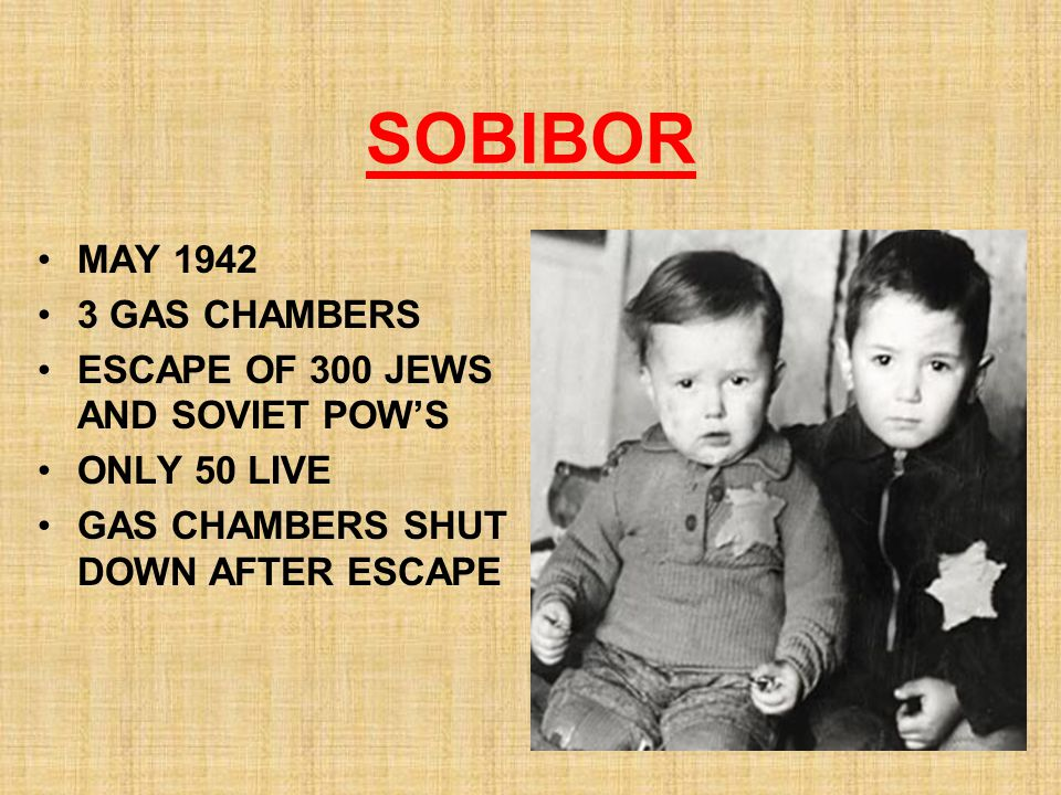 SOBIBOR MAY 1942 3 GAS CHAMBERS ESCAPE OF 300 JEWS AND SOVIET POW'S