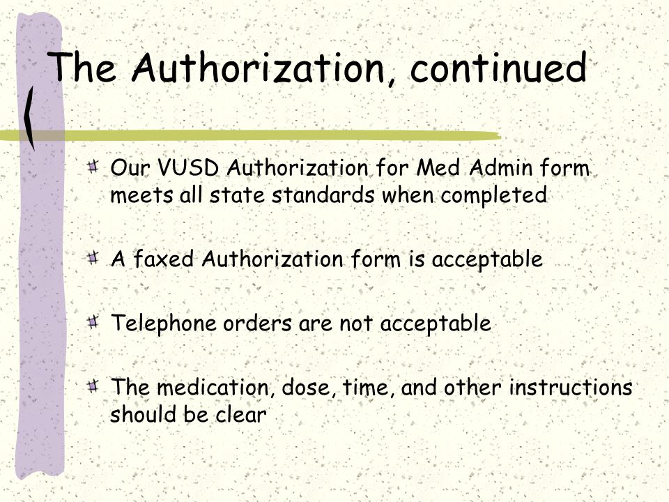 The Authorization, continued
