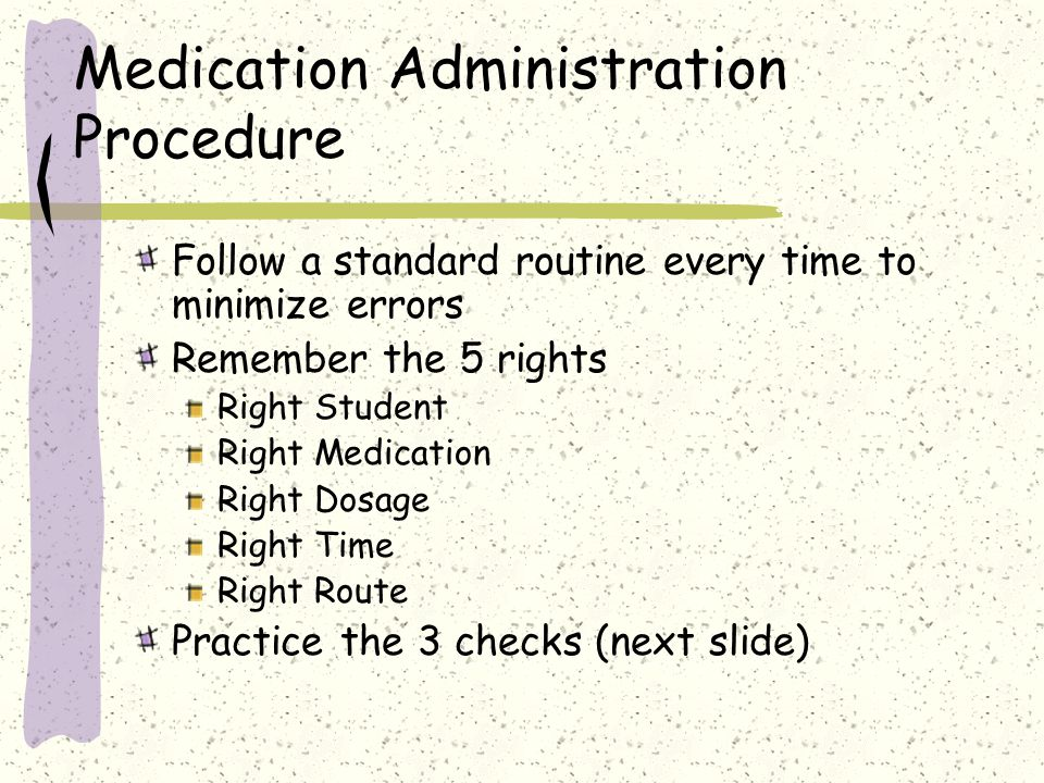 Medication Administration Procedure