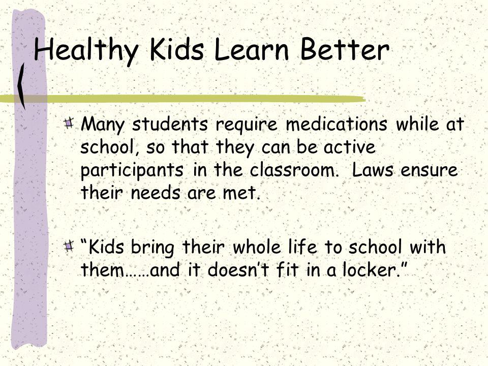 Healthy Kids Learn Better