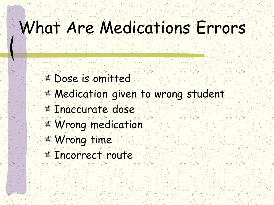 What Are Medications Errors
