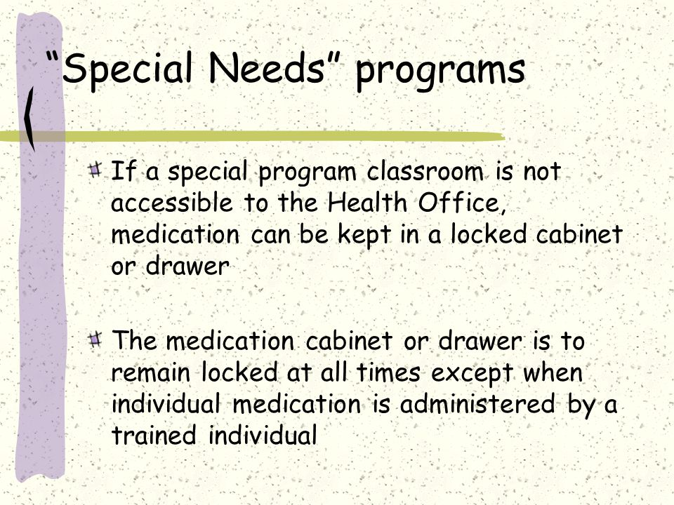 Special Needs programs
