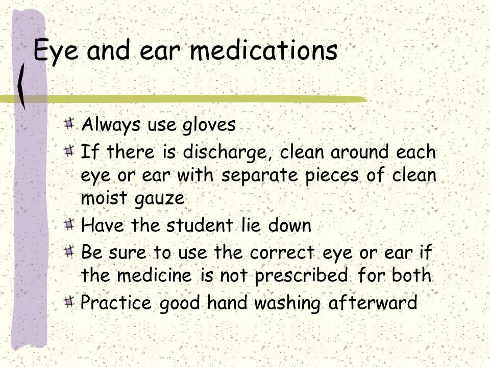 Eye and ear medications