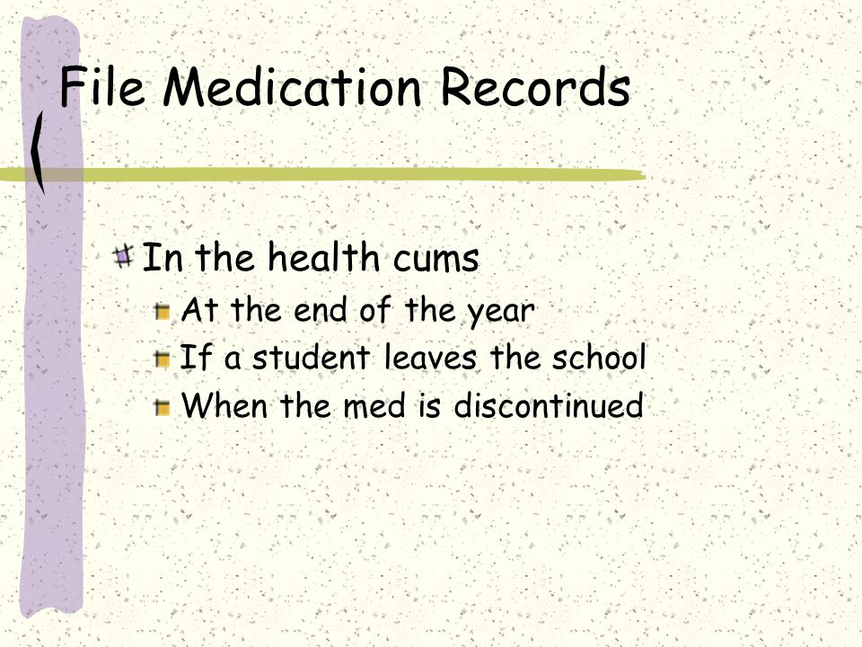 File Medication Records