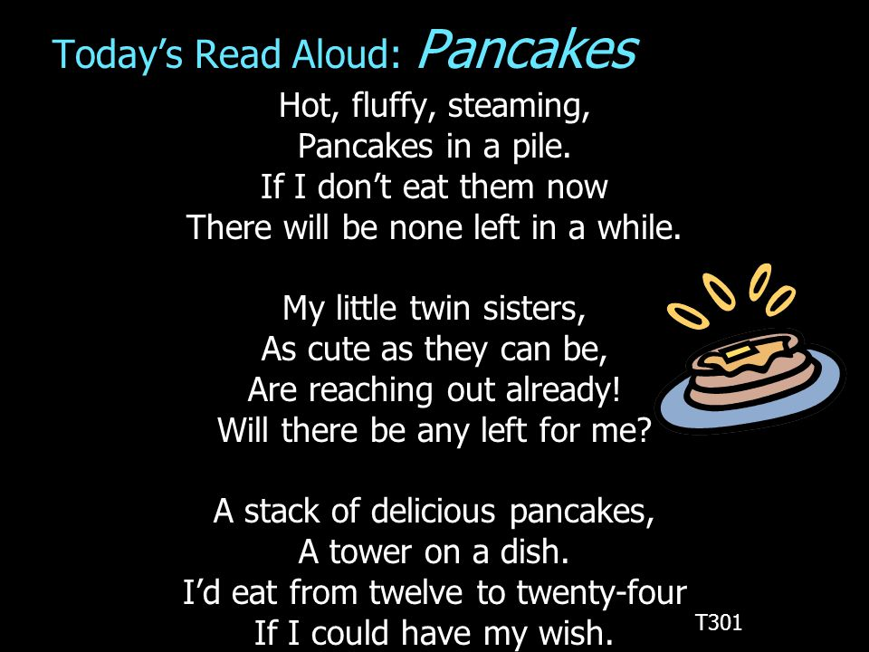 Today's Read Aloud: Pancakes