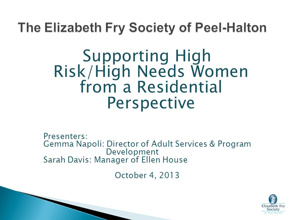 The Elizabeth Fry Society of Peel-Halton