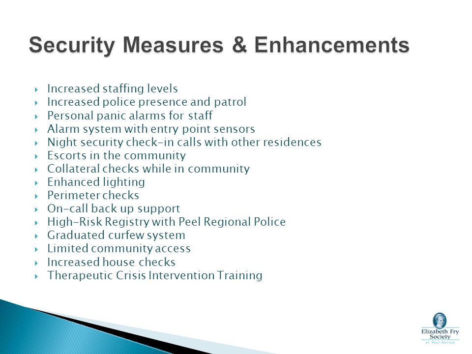 Security Measures & Enhancements