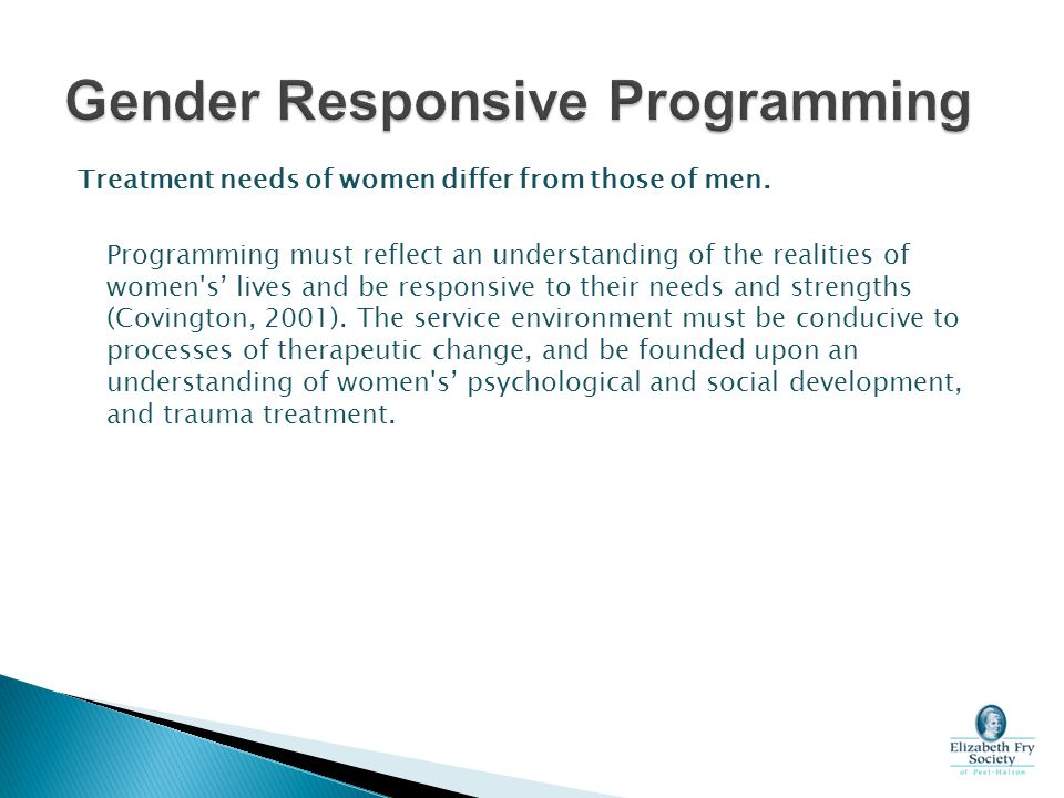 Gender Responsive Programming