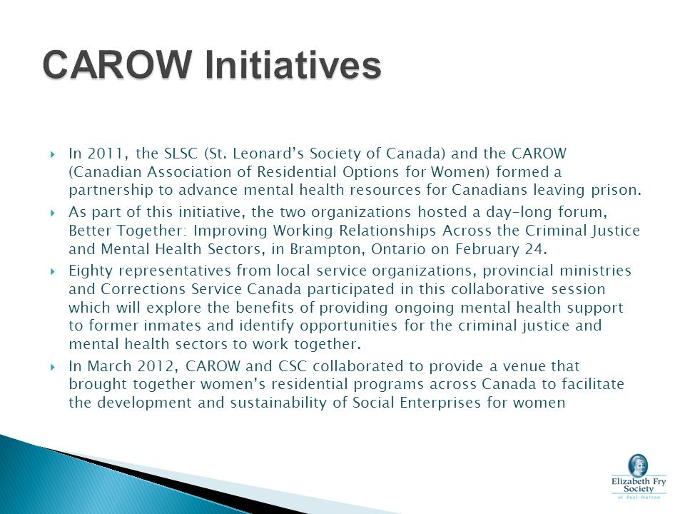 CAROW Initiatives