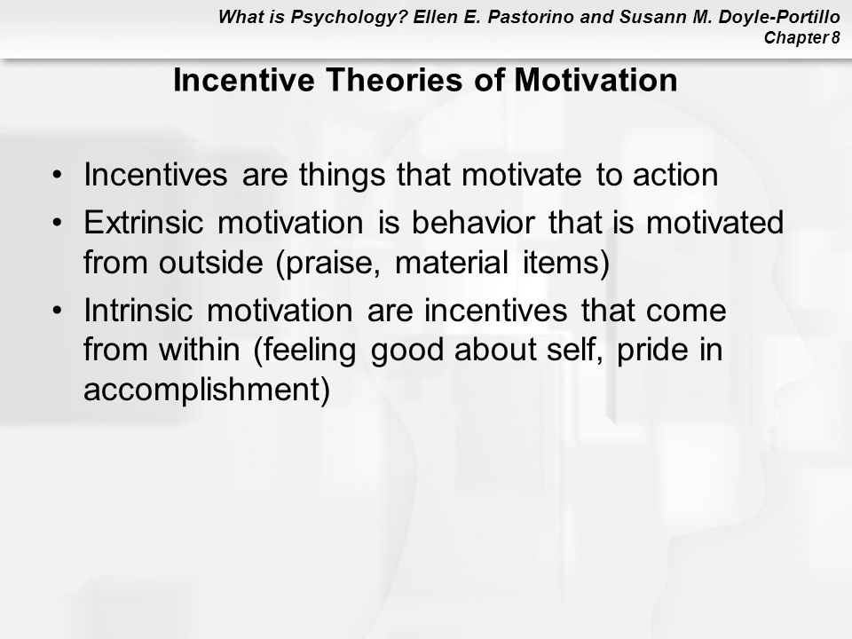 Incentive Theories of Motivation