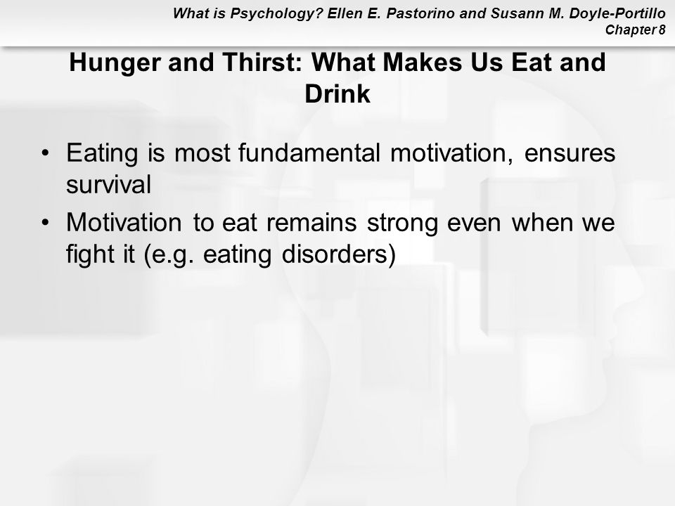 Hunger and Thirst: What Makes Us Eat and Drink