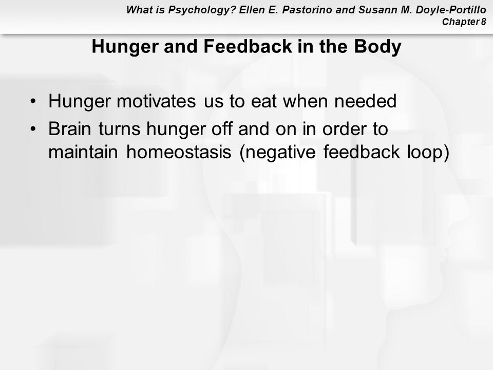 Hunger and Feedback in the Body