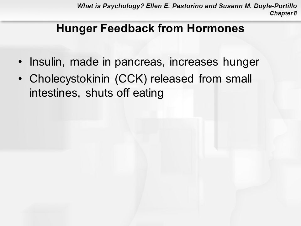 Hunger Feedback from Hormones