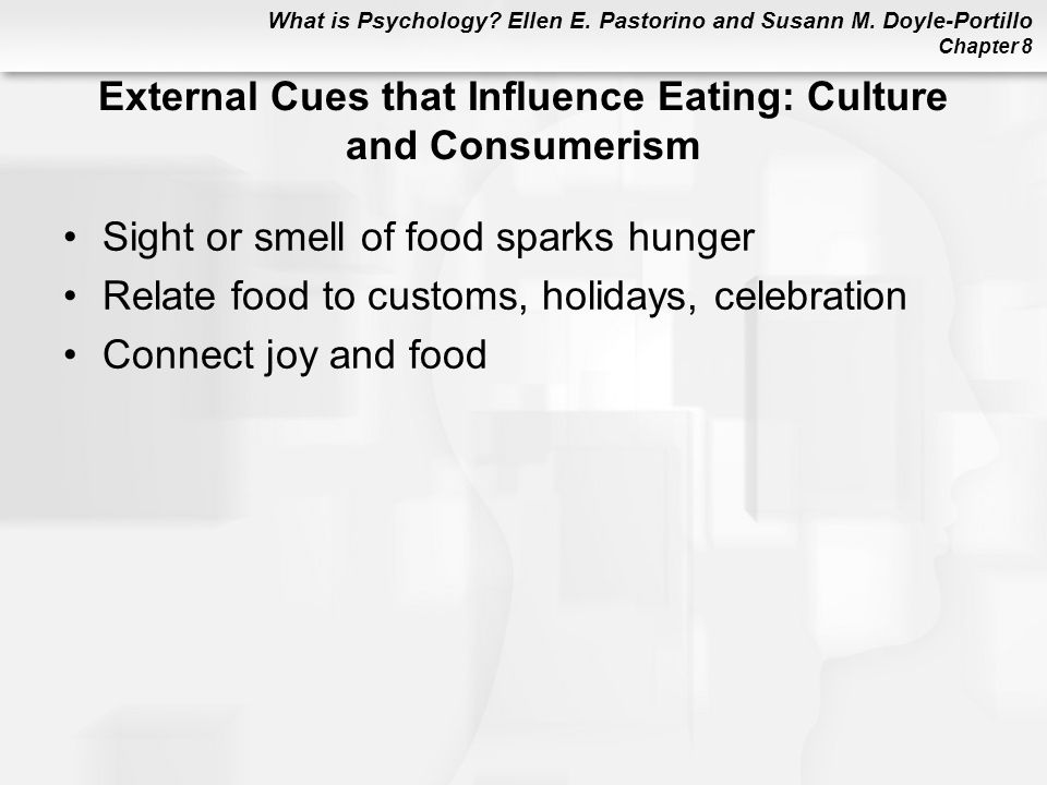External Cues that Influence Eating: Culture and Consumerism