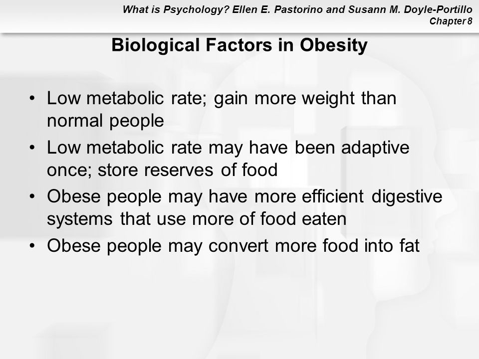 Biological Factors in Obesity