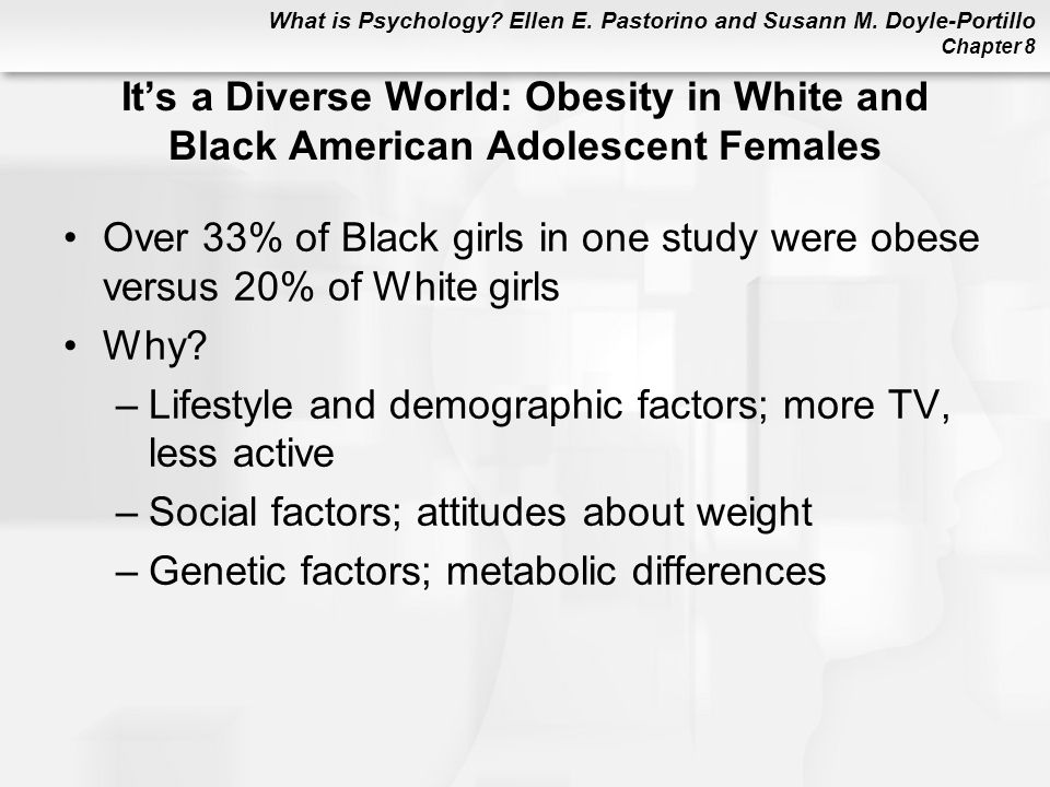 It's a Diverse World: Obesity in White and Black American Adolescent Females
