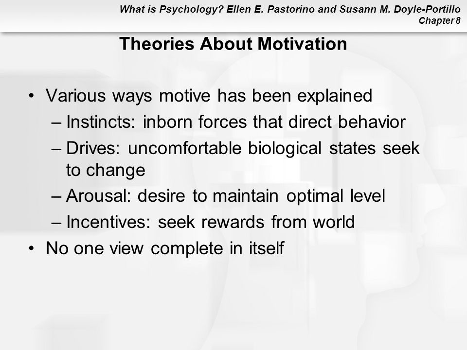 Theories About Motivation