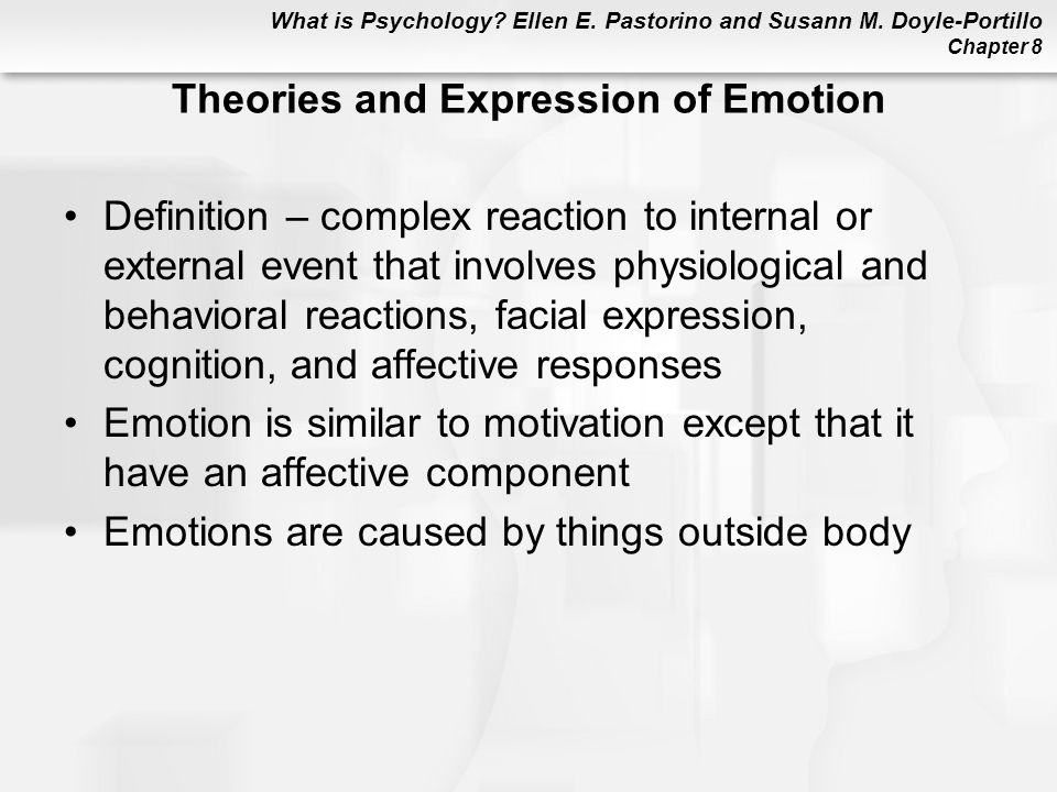 Theories and Expression of Emotion