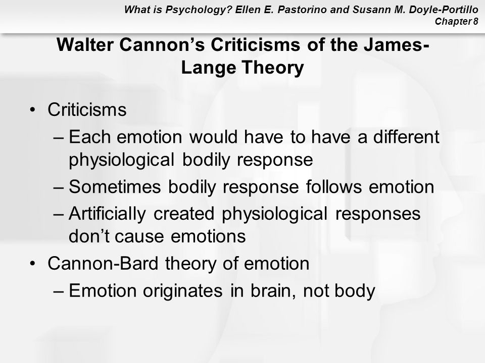 Walter Cannon's Criticisms of the James-Lange Theory