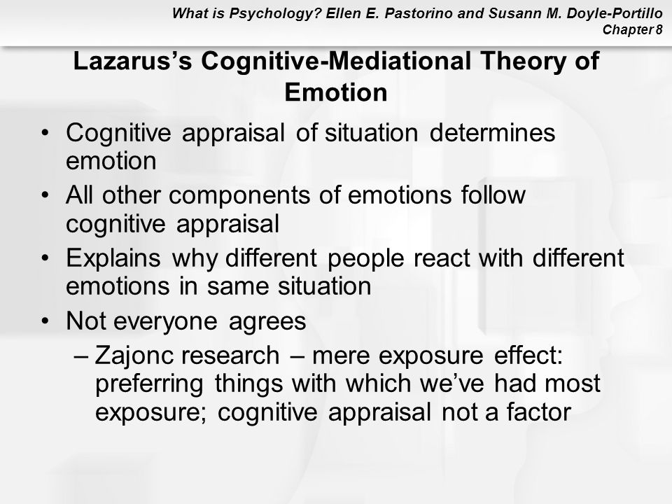 Lazarus's Cognitive-Mediational Theory of Emotion