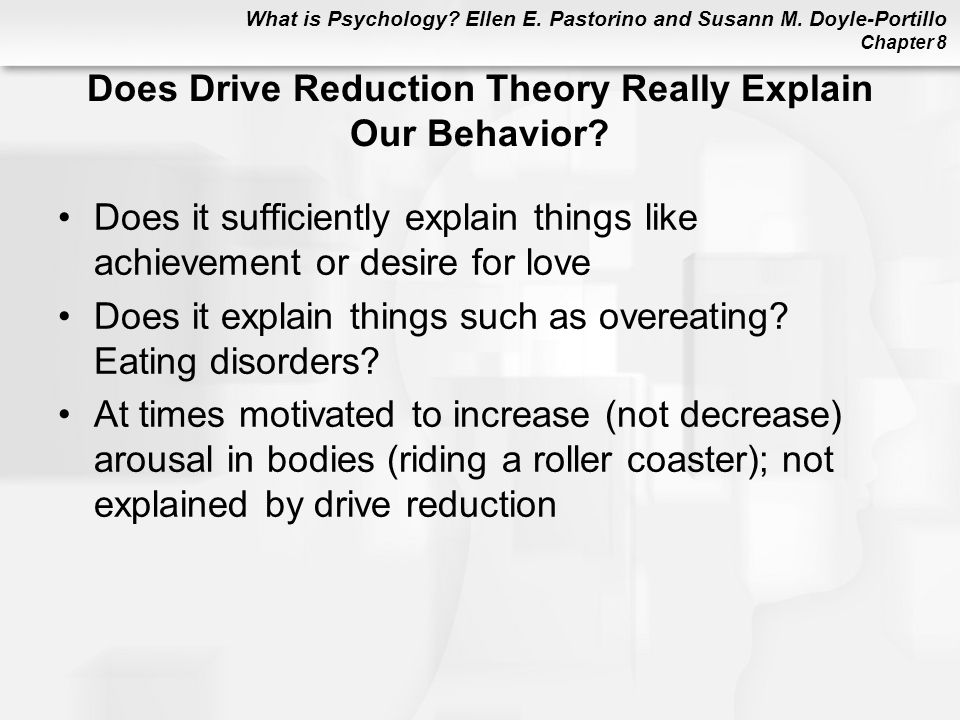 Does Drive Reduction Theory Really Explain Our Behavior