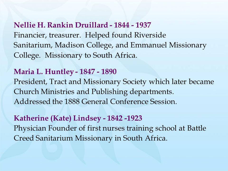 Nellie H. Rankin Druillard - 1844 - 1937