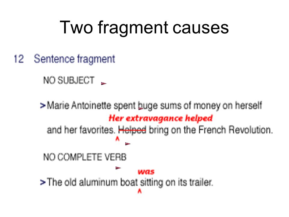 Two fragment causes