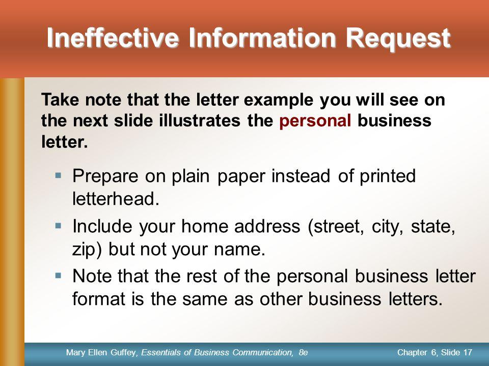 Ineffective Information Request