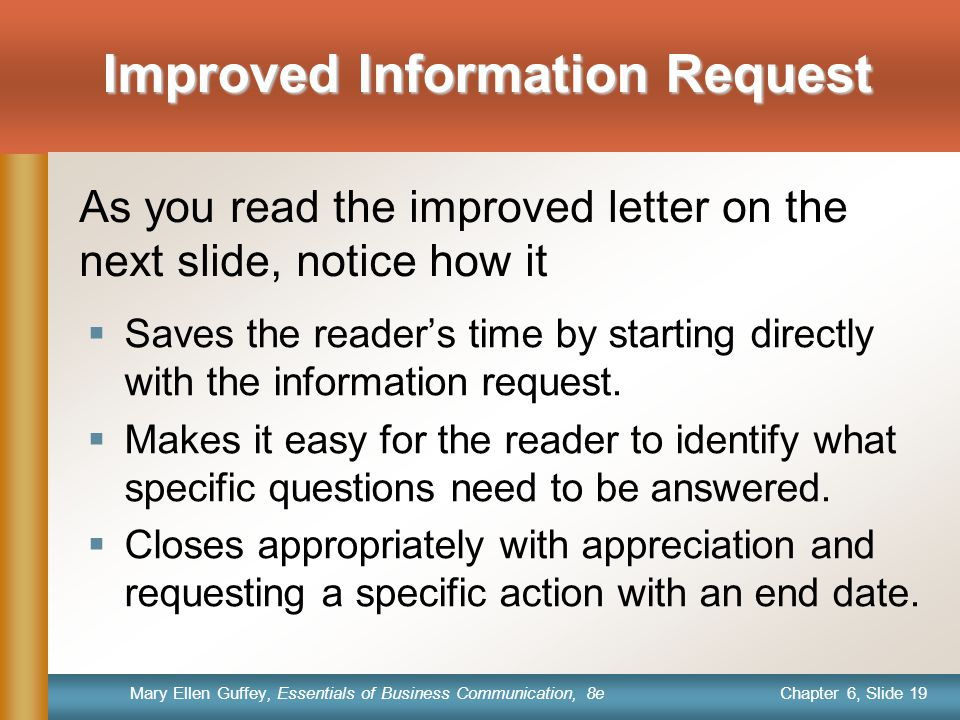 Improved Information Request