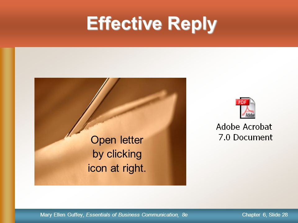 Open letter by clicking icon at right.
