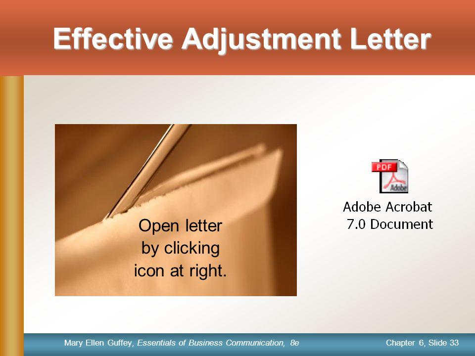 Effective Adjustment Letter