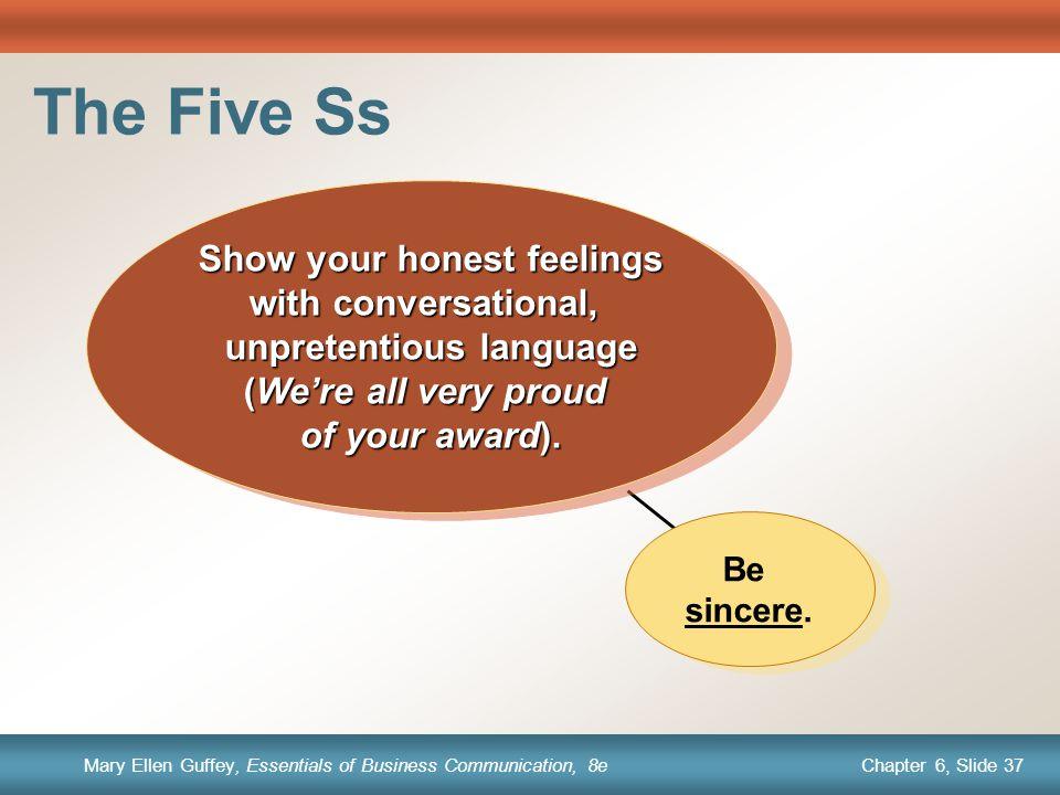 Show your honest feelings