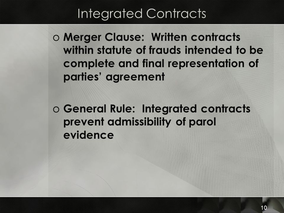 Integrated Contracts