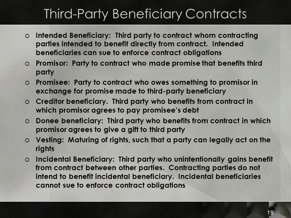 Third-Party Beneficiary Contracts