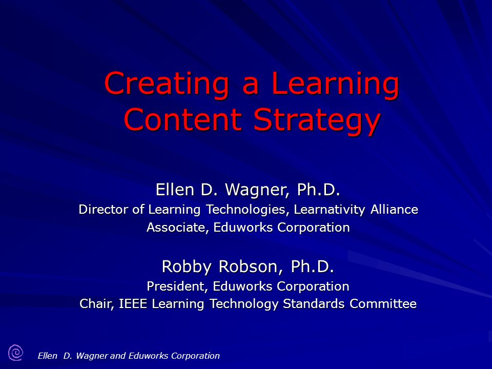 Creating a Learning Content Strategy