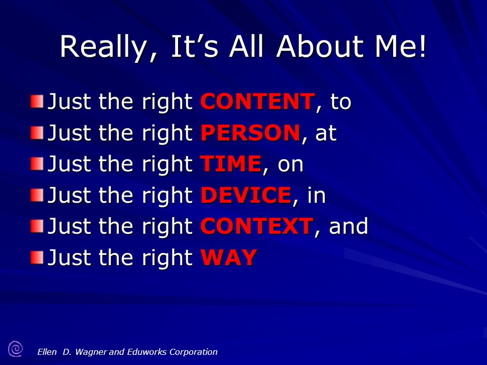 Really, It's All About Me!