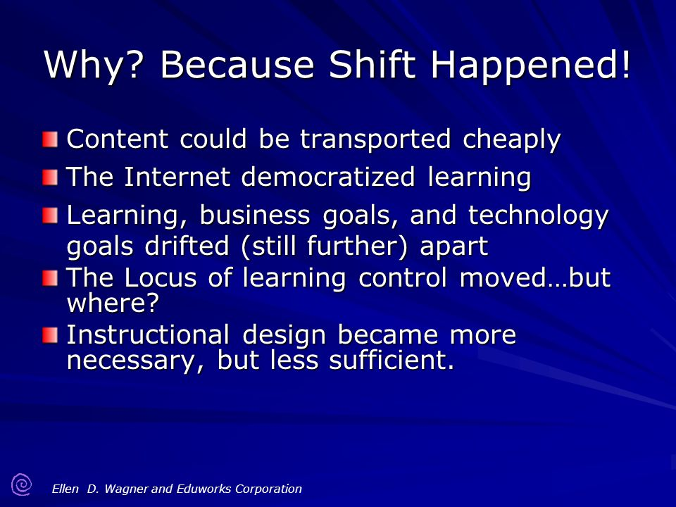 Why Because Shift Happened!