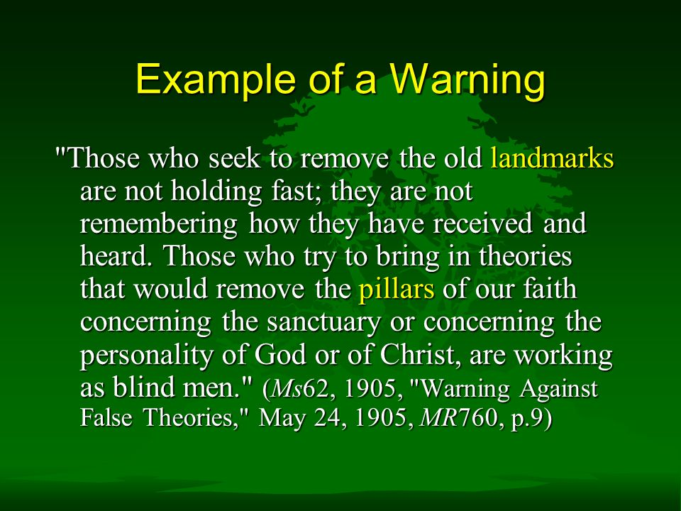 Example of a Warning