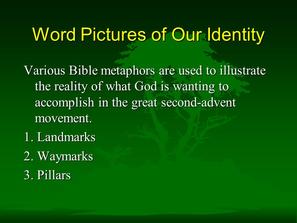 Word Pictures of Our Identity