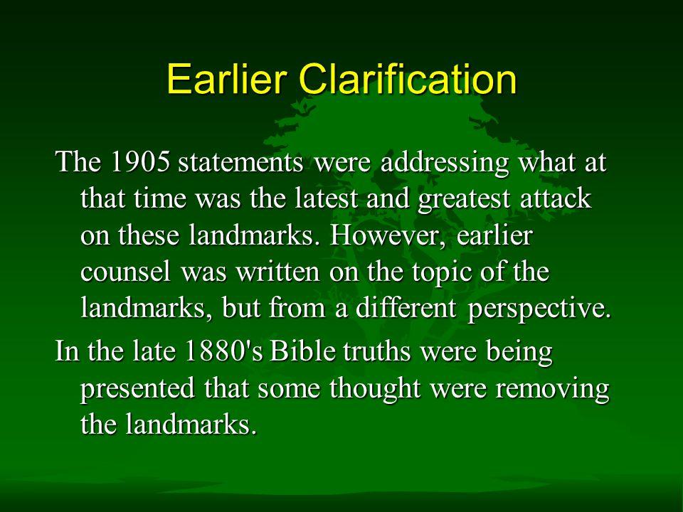 Earlier Clarification