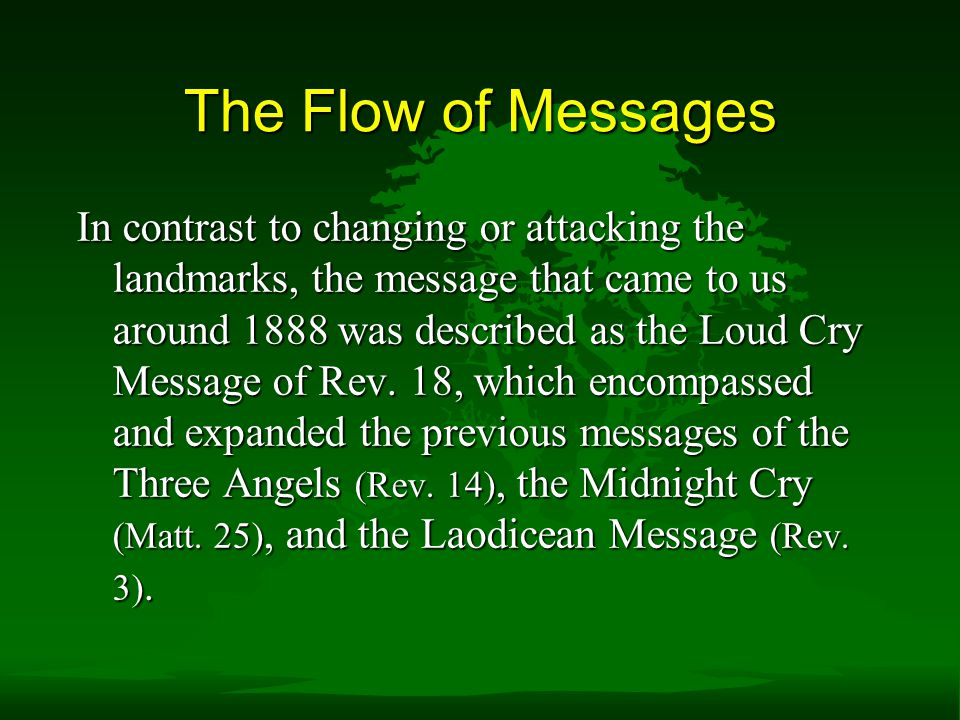 The Flow of Messages