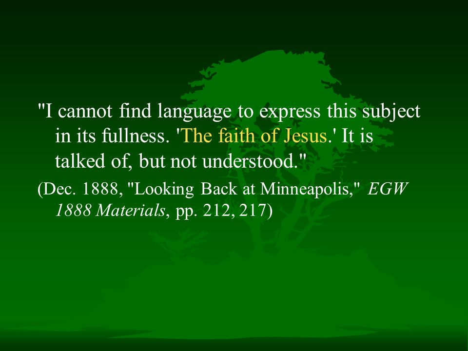 I cannot find language to express this subject in its fullness