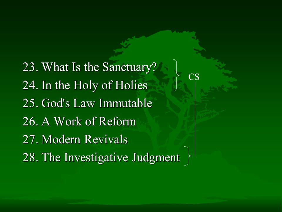 28. The Investigative Judgment