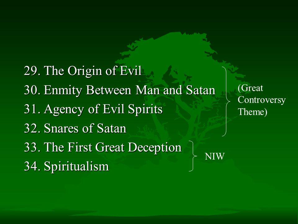 30. Enmity Between Man and Satan 31. Agency of Evil Spirits