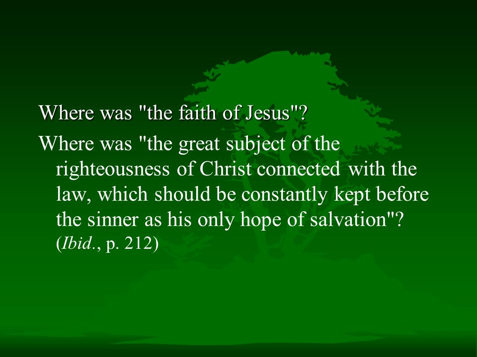 Where was the faith of Jesus